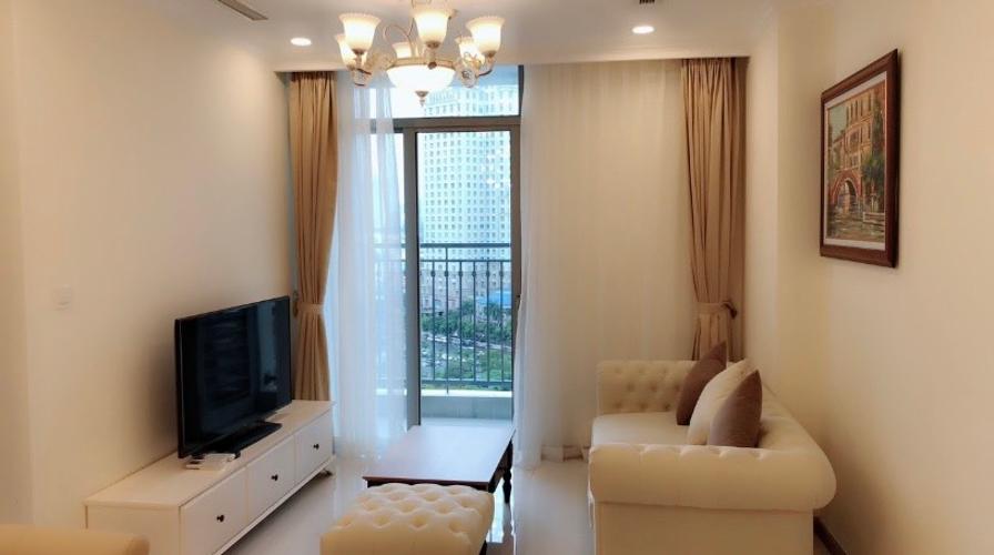 Căn hộ tầng 8 Vinhomes Central Park cửa hướng Tây Bắc, đầy đủ nội thất.