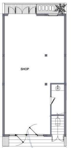 Layout Shophouse Charm City Shop-house Charm City hướng Đông Nam, diện tích 7mx10m.