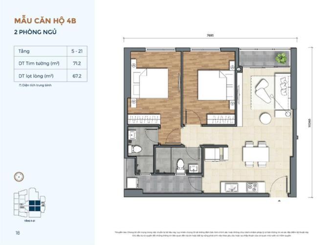 Căn hộ Precia nội thất cơ bản, thiết kế hiện đại, tiện nghi.