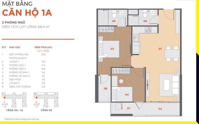 Căn hộ Hausbelo tầng trung, nội thất cơ bản tiện nghi.