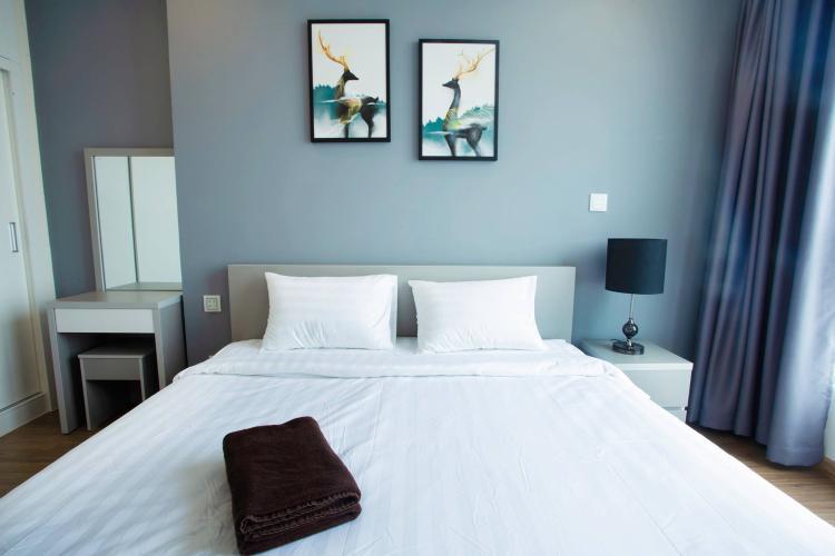 Phòng ngủ căn hộ VINHOMES CENTRAL PARK Bán căn hộ Vinhomes Central Park 1PN, tầng cao, đầy đủ nội thất, view sông Sài Gòn và thành phố