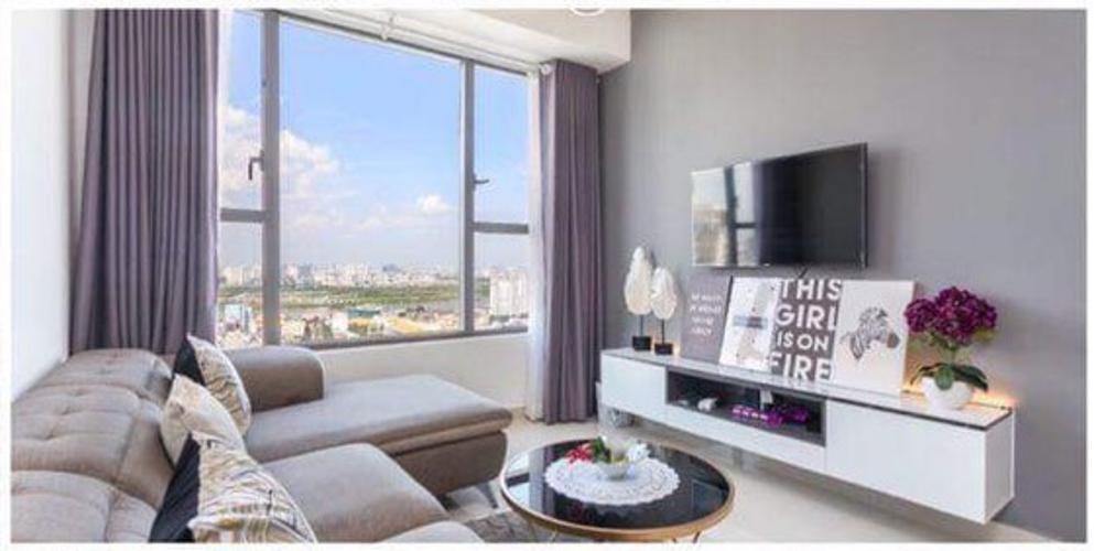 View phòng khách River Gate, Quận 4 Căn hộ Rivergate Residence tầng cao, view thành phố tuyệt đẹp.