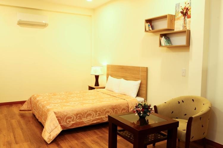 Phòng ngủ căn hộ dịch vụ Quận 1 Căn hộ dịch vụ 1 phòng ngủ view thoáng mát, đầy đủ nội thất.