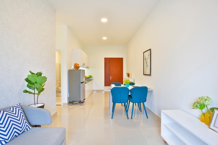 Nhà mẫu Topaz Home 2 Căn hộ Topaz Home 2 tầng thấp, bàn giao nội thất cơ bản.