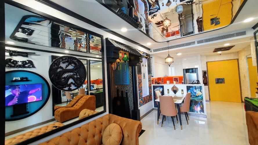 Không gian căn hộ Sunwah Pearl, Bình Thạnh Căn hộ Sunwah Pearl thiết kế độc đáo, view nội khu và thành phố