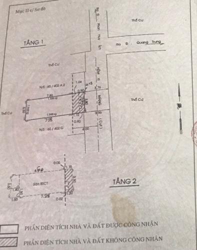Bản vẽ nhà phố Nguyễn Duy Cung, Gò Vấp Nhà phố hướng Bắc, hẻm trước nhà thông thoáng 1 trục 4m.