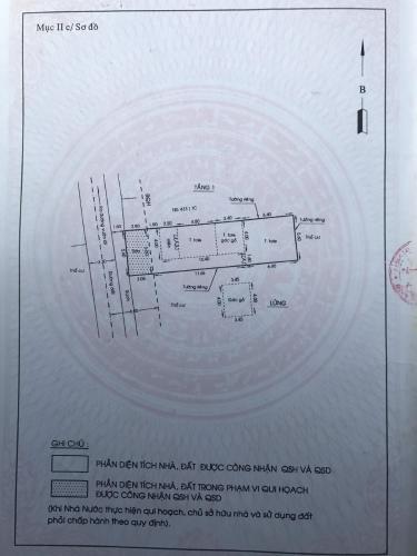 Giấy chứng nhận quyền sử dụng đất Nhà hẻm đường Vườn Lài diện tích đất 118.2m2, đường trước nhà 6m