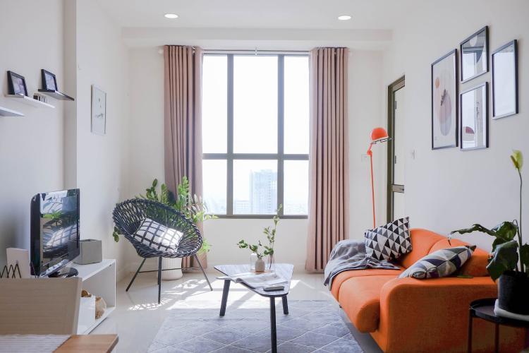 Phòng khách Icon 56, Quận 4 Căn hộ Icon 56 tầng cao lộng gió, đón view thoáng mát.