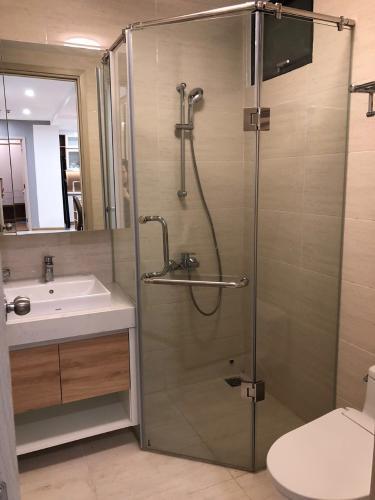 Phòng tắm New City Thủ Thiêm Căn hộ New City Thủ Thiêm tầng trung, nội thất cơ bản.