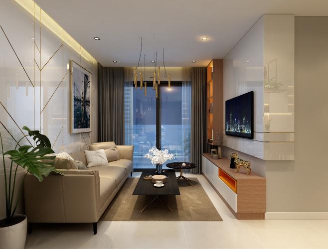 Phòng khách Phú Mỹ Hưng Midtown Căn hộ Phú Mỹ Hưng Midtown tầng cao, view sông và thành phố mát mẻ.