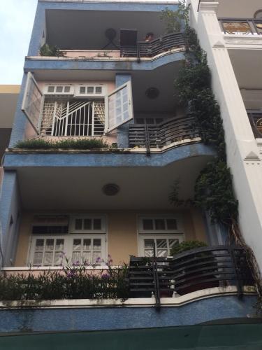 Mặt trước nhà phố Bình Thạnh Bán nhà hẻm Đặng Thùy Trâm, Bình Thạnh, sổ hồng, cách cầu Bình Lợi 700m
