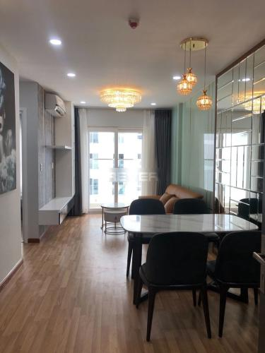 Căn hộ Diamond Riverside tầng 19 hướng Nam, đầy đủ nội thất.