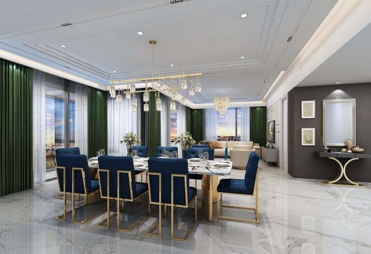Căn hộ cao cấp The Metropole Thủ Thiêm tầng 12, diện tích 77.31m2.