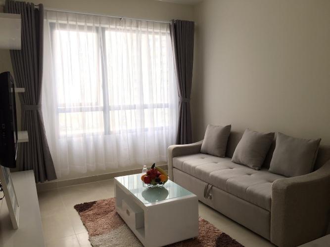 phòng khách căn hộ 1 phòng ngủ masteri thảo điền Căn hộ Masteri Thảo Điền tầng cao đón view nội khu mát mẻ.
