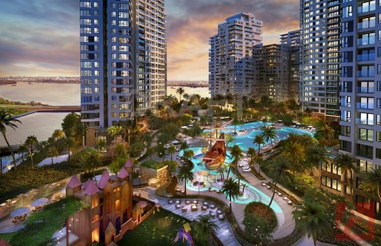 tiện ích căn hộ đảo kim cương Căn hộ Đảo Kim Cương tầng trung, đón view thành phố sầm uất.