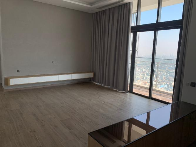 phòng khách penthouse riviera point Căn hộ Penthouse Riviera Point tầng cao, ngắm nhìn thành phố.
