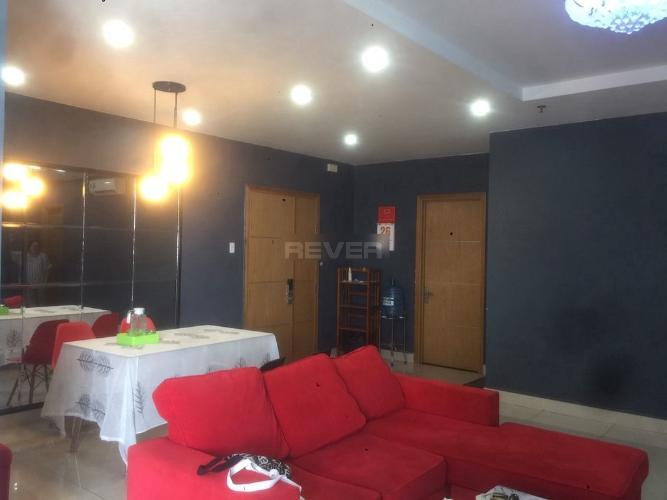Phòng khách căn hộ Him Lam Chợ Lớn Căn hộ Him Lam Chợ Lớn tầng thấp đầy đủ nội thất, hướng Tây.