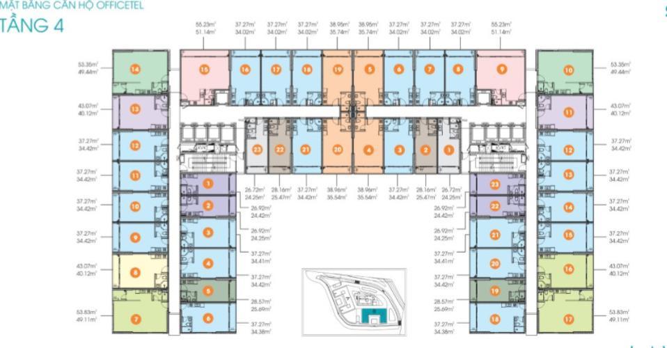 Mặt bằng chung của dự án LAVIDA PLUS Office-tel Lavida Plus nội thất cơ bản, có thể làm văn phòng.