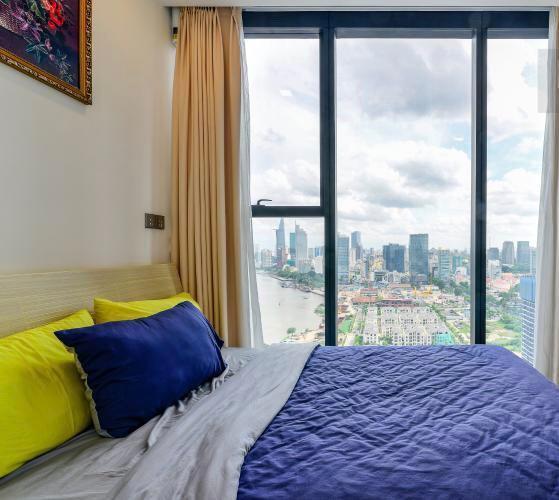 Phòng ngủ căn hộ Vinhomes Golden River Căn hộ Vinhomes Golden River, đầy đủ nội thất, ban công thoáng mát