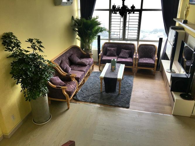 Penthouse Phú Hoàng Anh tầng 26 đầy đủ nội thất tiện nghi, view thành phố.