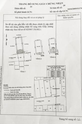 Bản vẻ nhà phố Quận 6 Nhà phố Quận 6 hướng Nam diện tích sử dụng 111.8m2, nội thất cơ bản.