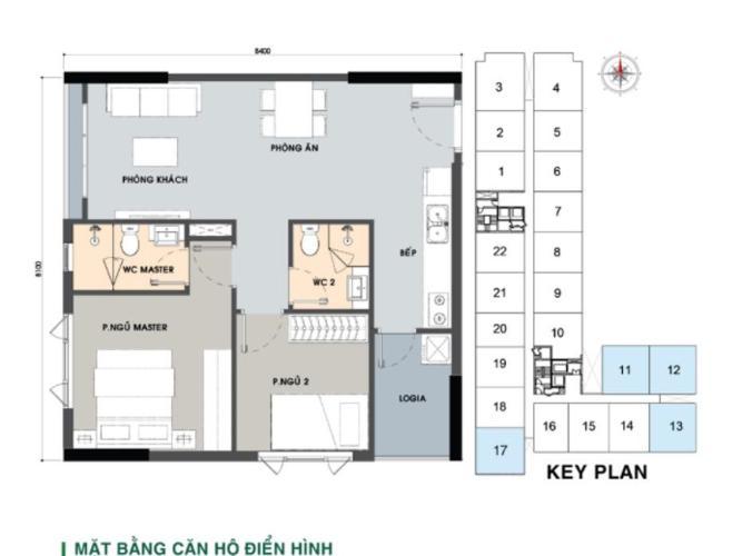 Căn hộ Picity High Park tầng 6 có 2 phòng ngủ, view thoáng mát.