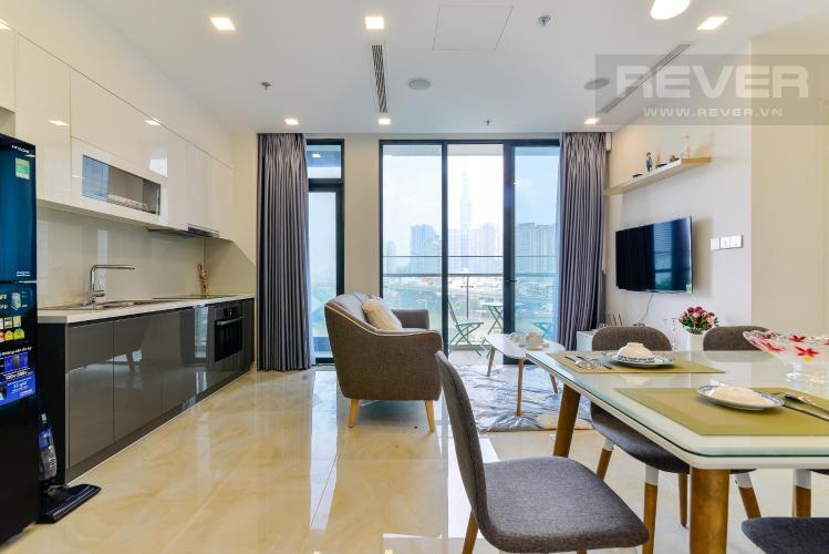 Cho thuê căn hộ Vinhomes Golden River 2PN, tầng thấp, đầy đủ nội thất, view sông và Landmark 81