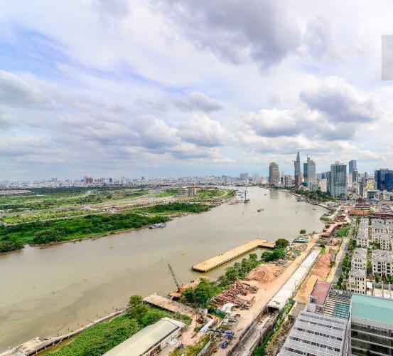View căn hộ Vinhomes Golden River Căn hộ Vinhomes Golden River, đầy đủ nội thất, ban công thoáng mát