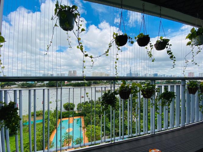 Ban công căn hộ Opal Riverside , Quận Thủ Đức Căn hộ Opal Riverside tầng 19 view sông thoáng mát, nội thất đầy đủ.