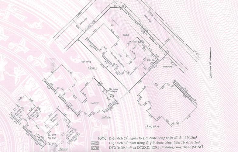 Bản vẽ nhà phố Quận 2 Nhà phố đường xe hơi Quận 2 hướng Đông có sân vườn thoáng mát