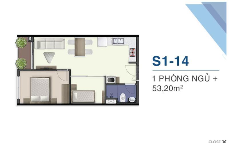 Căn hộ Q7 Saigon Riverside nội thất cơ bản, view nội khu.