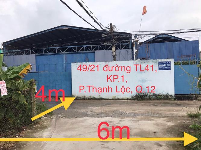 Nhà xưởng quận 12 Nhà xưởng nhà kho tại Thạnh Lộc, Q.12, diện tích 27x43.5m.