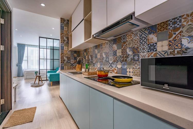 Phòng bếp căn hộ The Tresor Căn hộ tầng thấp The Tresor nội thất sang trọng hiện đại.