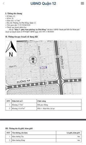Thông tin nhà đất Nhà hẻm đường Vườn Lài diện tích đất 118.2m2, đường trước nhà 6m