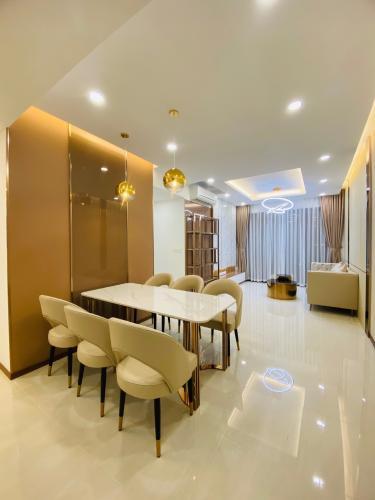 Không gian căn hộ One Verandah, Quận 2 Căn hộ tầng 8 One Verandah hướng Tây Bắc, đầy đủ nội thất.