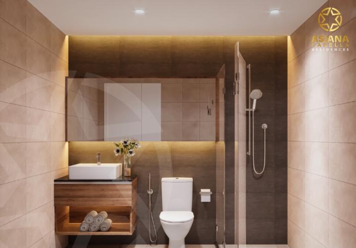 Phòng tắm căn hộ Asiana Capella , Quận 6 Căn hộ Asiana Capella tầng trung mát mẽ, nội thất cơ bản.
