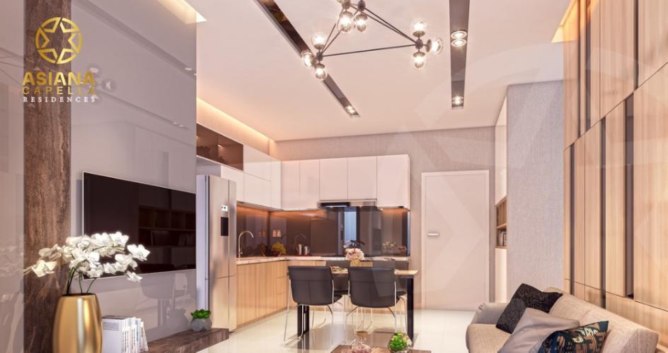 Phòng bếp căn hộ Asiana Capella , Quận 6 Căn hộ Asiana Capella tầng trung mát mẽ, nội thất cơ bản.