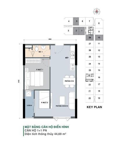 Căn hộ Picity High Park nội thất cơ bản, tầng thấp.
