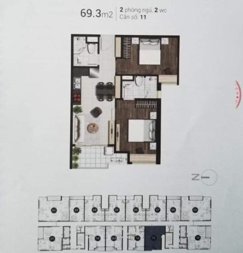 Căn hộ Sky 89 An Gia tầng 3 cửa hướng Tây Bắc, view thoáng mát.
