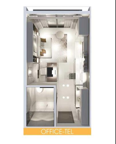 Officetel Lavida Plus quận 7, diện tích 37m2 - 1 phòng ngủ, không có nội thất.