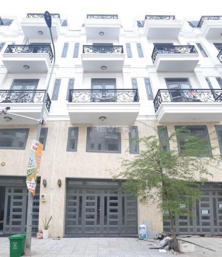 Mặt tiền nhà phố Thạnh Xuân 24, Quận 12 Nhà nguyên căn mới xây 1 trệt 3 lầu làm văn phòng, hẻm xe hơi.