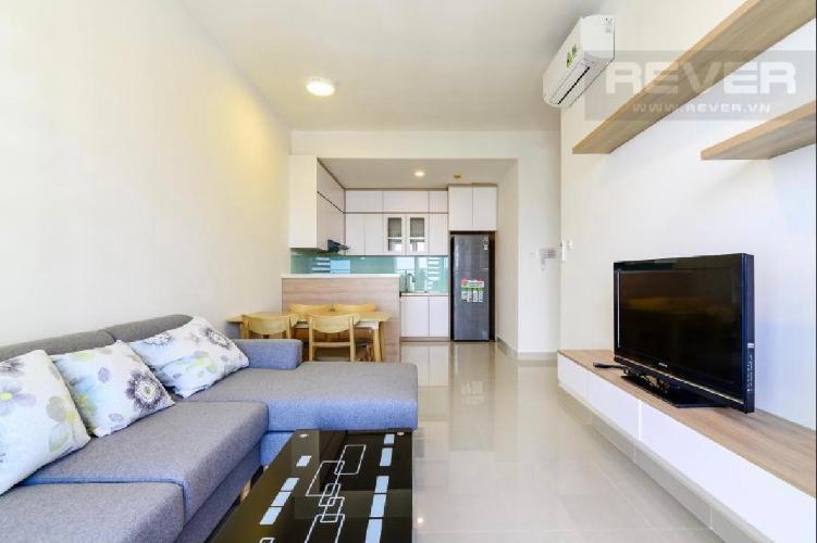 Căn hộ có 2 phòng ngủ The Sun Avenue tầng 25, đầy đủ nội thất.