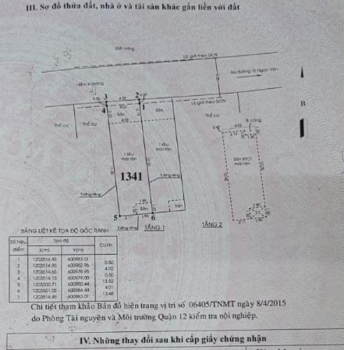 Bản vẽ nhà phố Quận 12 Nhà phố hẻm xe hơi rộng 5m hướng Đông Bắc, nội thất cơ bản.