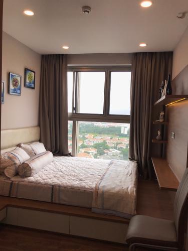 Phỏng ngủ căn hộ Phú Mỹ Hưng Midtown Căn hộ tầng cao Phú Mỹ Hưng Midtown, nội thất cao cấp đầy đủ.