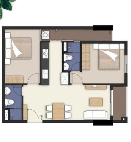 Layout căn hộ Lavita Charm, Thủ Đức Căn hộ Lavita Charm tầng 6, đầy đủ nội thất cao cấp và tiện ích.