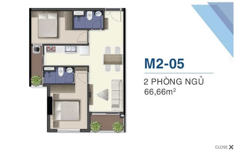 Măt bằng nội thất Q7 Saigon Riverside Bán căn hộ ban công hướng Nam, tầng cao Q7 Saigon Riverside