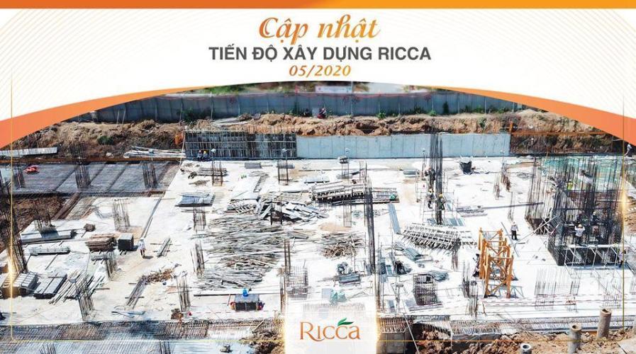Tiến độ thi công khu căn hộ RICCA Bán căn hộ 1 phòng ngủ Ricca Quận 9, tầng 12, diện tích 56m2, chưa bàn giao