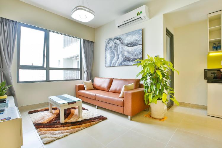 Phòng khách hướng Tây Nam Căn hộ tầng cao 2 phòng ngủ T4B Masteri Thảo Điền