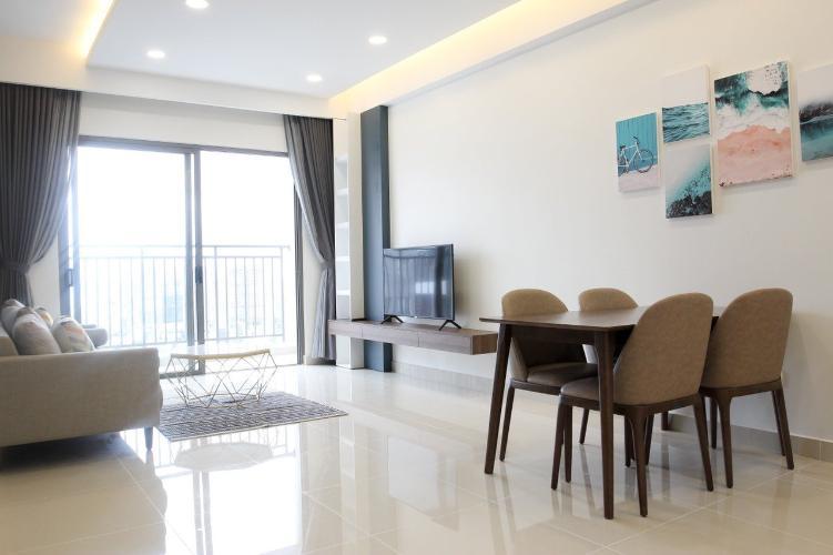 phòng khách căn hộ The Sun Avenue Căn hộ 3 phòng ngủ The Sun Avenue view đảo Kim Cương siêu đẹp