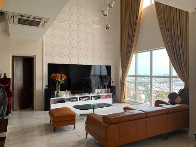 phòng ngủ căn hộ Tropic Garden Căn hộ Penthouse nội thất đầy đủ, view sông Tropic Garden